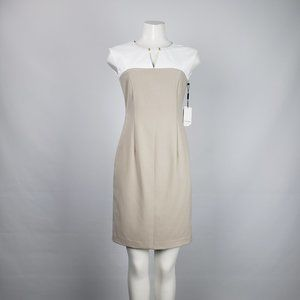 Calvin Klein White & Taupe Dress Size 4